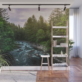 PNW River Run II - Pacific Northwest Nature Photography Wall Mural