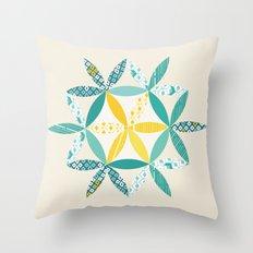 Patchwork Sunshine Throw Pillow