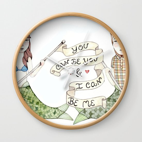 You Can Be You Wall Clock