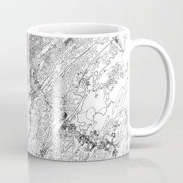 Birmingham White Map Coffee Mug
