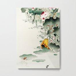 Frog in the swamp  - Vintage Japanese Woodblock Print Art Metal Print