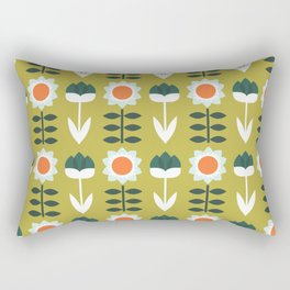 Set Sun Olive Rectangular Pillow