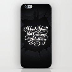 The Seventh Commandment iPhone & iPod Skin