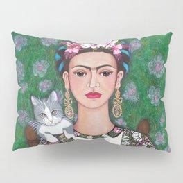 Frida cat lover Pillow Sham