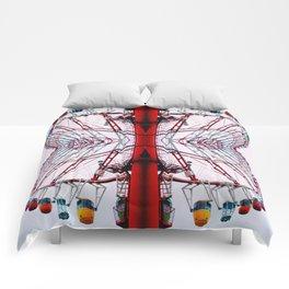 rainbow wheel Comforters