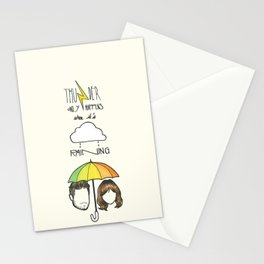 """Thunder only happens when it's raining"" Dan Smith ft Gabrielle Aplin Stationery Cards"