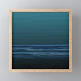 Horizon (blue) Framed Mini Art Print