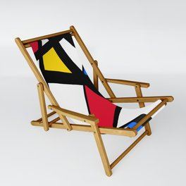 Red, Yellow, Blue Primary Abstract Sling Chair
