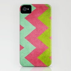 Cocktails with Lilly - Pink, Aqua, Green Chevron iPhone (4, 4s) Slim Case