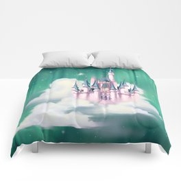 Star Castle In The Clouds Comforters