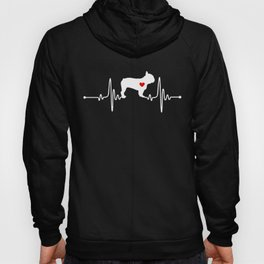 French Bulldog dog heartbeat Hoody