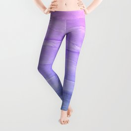 Abstract Watercolor Layers - Purple Ombre Leggings