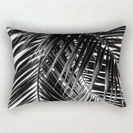 Tropical Vibes   Black and White Rectangular Pillow