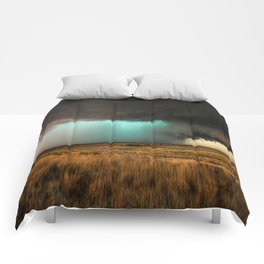 Jewel of the Plains - Storm in Texas Comforters
