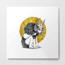 Golden Warrior Metal Print