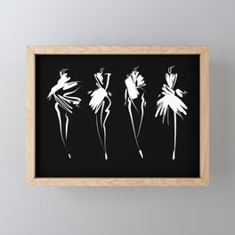 Fashion girls Framed Mini Art Print