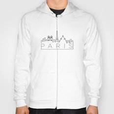 Linear Paris Skyline Design Hoody
