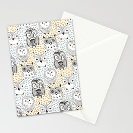 Owls Being Owls Stationery Cards