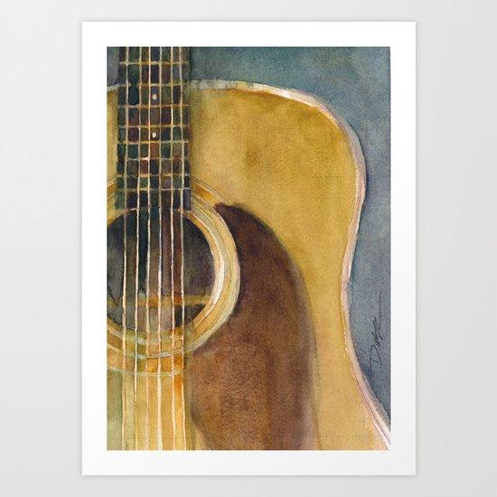 Martin Guitar D-28 Art Print