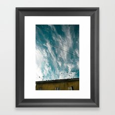 Doves and Wire#2 Framed Art Print