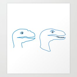 Raptors Blue Art Print
