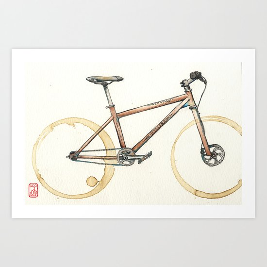 Coffee Wheels #06 Art Print