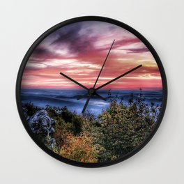 Stained Sunrise Wall Clock