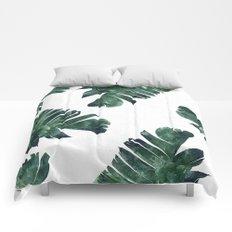 Banana Leaf Watercolor #society6 #buy #decor Comforters