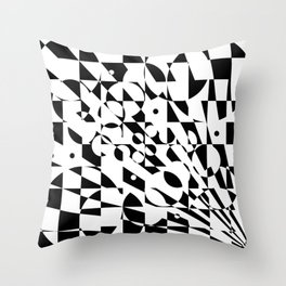 Fractured Structure Throw Pillow