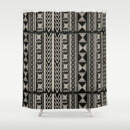 Boho Mud cloth (Black and White) Shower Curtain