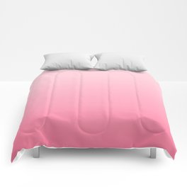 Minimalistic Pink Gradient Comforters