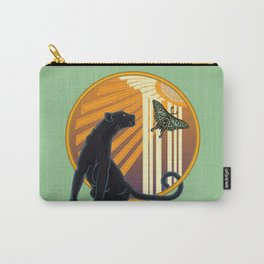 Jaguar Plain Art Deco Carry-All Pouch