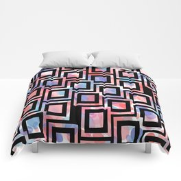 Black and White Squares Pattern 06 Comforters