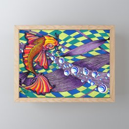 Abstract koi fish Framed Mini Art Print