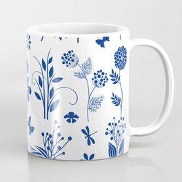 Blue Floral Toile  Coffee Mug