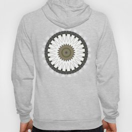 Mandala of everyday love with hearts and Cupid arrows Hoody