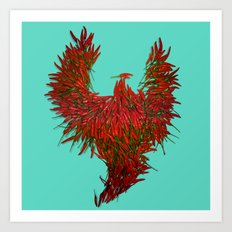 Hot Wings! Art Print