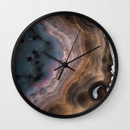 Multi-colored Agate slice Wall Clock