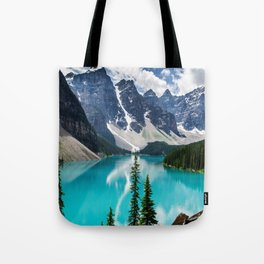 Lake Moraine Banff Tote Bag