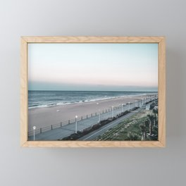 Sunset over Virginia Beach, VA Framed Mini Art Print