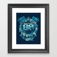 AWESOME 80s Framed Art Print
