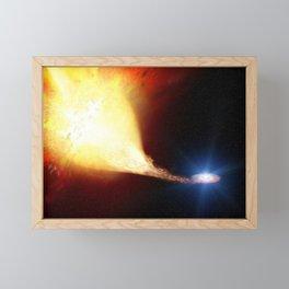 Explosive supernova Framed Mini Art Print