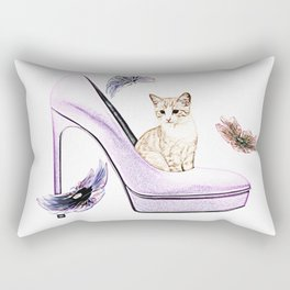 HIGH HEELS AND CAT Rectangular Pillow