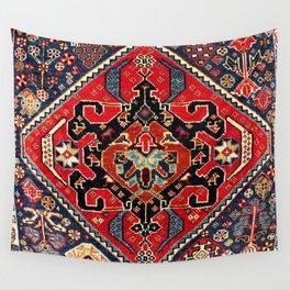 Qashqa'i Antique Fars Persian Bag Face Print Wall Tapestry