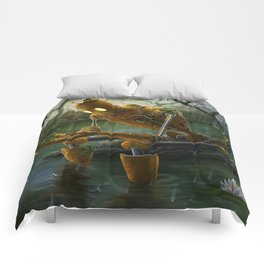 Rust,Rain, and Ribbits Comforters