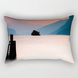 Lake Walen Sunset Rectangular Pillow