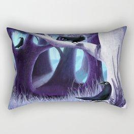 The Ostragon Woodlands Where Bright Ravens Watch Rectangular Pillow