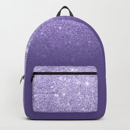 Modern ultra violet faux glitter ombre purple color block Backpack