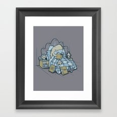 LATE NIGHT READINGS Framed Art Print