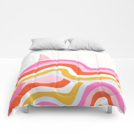 catalina, sailing waves Comforters